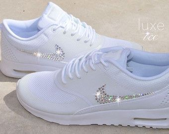Nike Air Max 90 White customized with SWAROVSKI® by ...