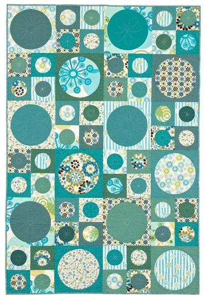 sewing block qults Dot to Dot: The gently curved edges of large circles make this a simple-to-sew quilt.