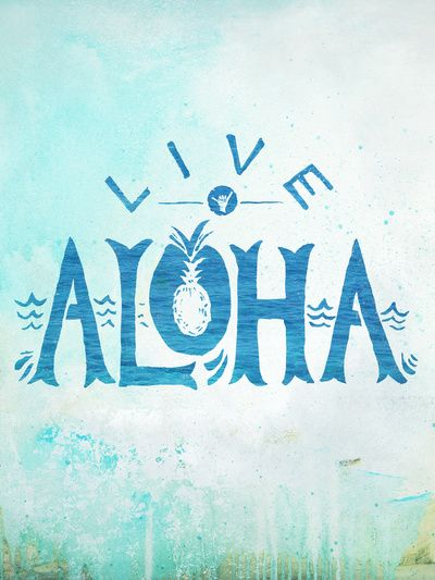 "Nice play on the negative space in the ""O"" to create a pineapple. Simple, yet elegant, type and layout.  Live Aloha Art Print"