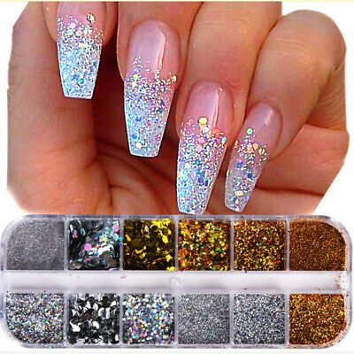 Be Suitable For Nail Art Decoration With Nail Polish Uv Builder Gel Acrylic Etc Making Your Nails Sparkl Nail Art Manicure Glitter Nail Art Christmas Nails