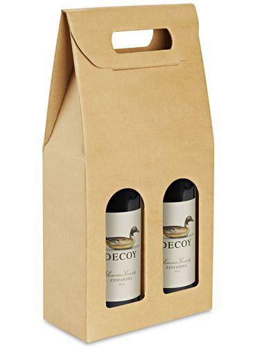 Wine Carrier 2 Bottle Kraft S 22232 Wine Carrier Bottle Carrier Bottle Packaging
