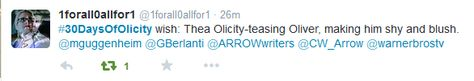 1forall0allfor1 #30DaysOfOlicity wish day 9