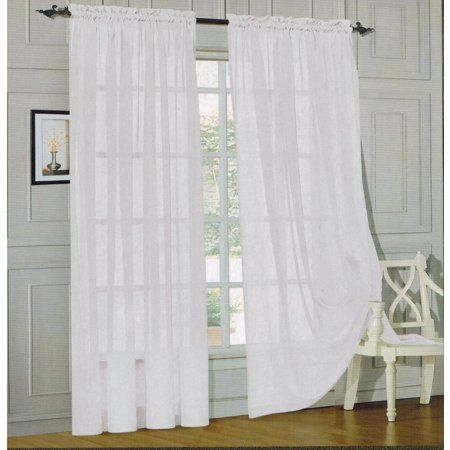 Home With Images Sheer Curtain Panels Sweet Home Collection