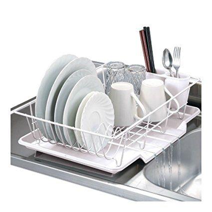 Download Wallpaper White Kitchen Drainer Rack