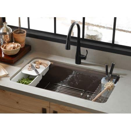 Kohler K 5871 5ua3 0 Riverby 33 Undermount Build Com Kitchen Sink Accessories Kohler Kitchen Sink Undermount Kitchen Sinks Cast iron kitchen sinks undermount