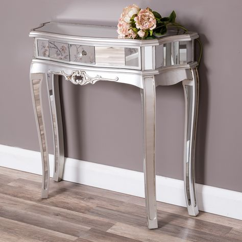 This Mirrored Half Moon Table Is Perfect For In A Hallway Or