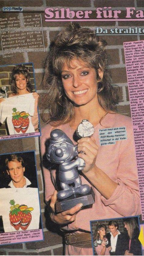 Farrah Smiles In A German Magazine Article Farrah Fawcett Kate Jackson Cheryl Ladd
