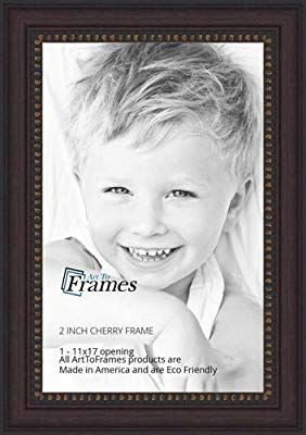 Amazon Com Arttoframes 11x17 11 X 17 Picture Frame Cherry Slope With Dark Gold Edges 2 25 White Picture Frames Custom Poster Frames Black Picture Frames