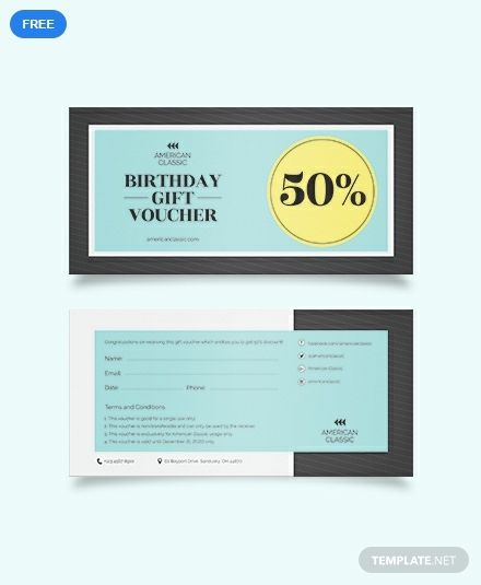 Easily Editable Printable In Photoshop Illustrator Ms Word Indesign Publisher Pages Downloa Voucher Design Voucher Template Free Marketing Template