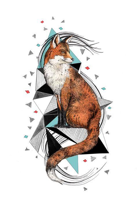 Foa the fox | Tattoo - Sandra Dieckmann | Illustration