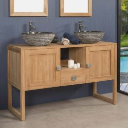 Thea Teak Bathroom Vanity Unit 130 Cm In 2020 Teak Bathroom Vanity Teak Bathroom Bathroom Vanity Units