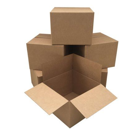 Uboxes Large 6 Pack Moving Cardboard Boxes 20 X 20 X 15 Inches Walmart Com In 2021 Cardboard Box Large Moving Boxes Corrugated Box