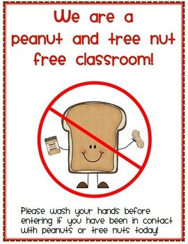 Image result for peanut free classroom