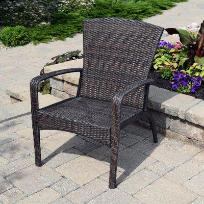 Breakwater Bay Truesdell Wicker Adirondack Chair Modern Outdoor Chairs Wood Adirondack Chairs Chair