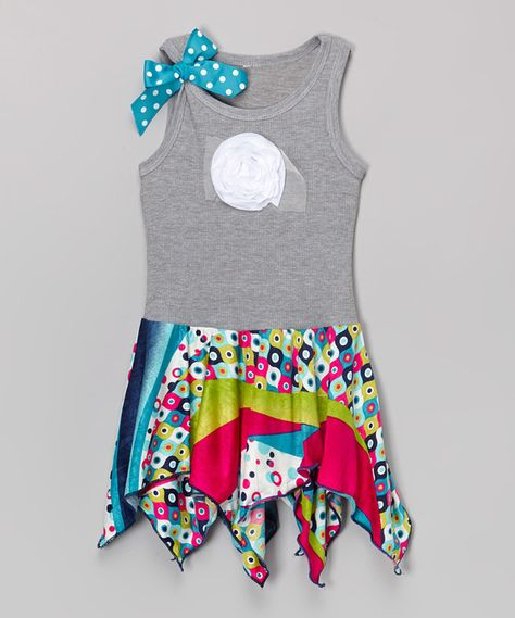 Look at this Mod Geo Handkerchief Dress - Infant, Toddler & Girls on #zulily today!