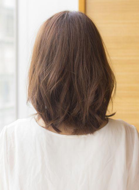 大人女子のひし形くびれミディアム 髪型ミディアム ヘアスタイル