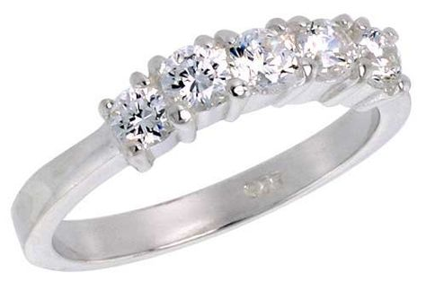 5130fd3c8f65 Sterling Silver 1.25 Carat Size Brilliant Cut Cubic Zirconia Bridal Ring  (Available in Sizes 6 to 10)