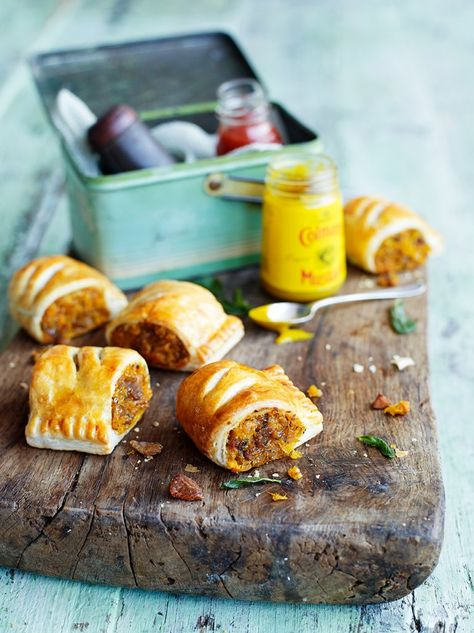 Squash, sage & chestnut rolls.  Could be used as a vegetarian Christmas snack or as part of Christmas dinner.