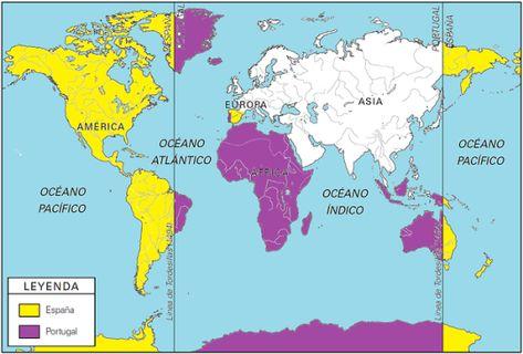 Pin De 𝐚𝐧𝐧𝐞𝐬 Em Back To School Tordesilhas Mapa Espanha