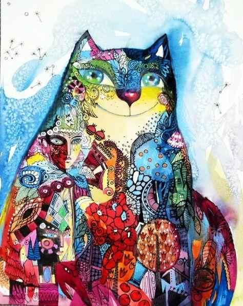 Oxana Zaika C 2012 Oxanazaika Com 24x30cm Aquarelle Encre De