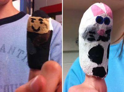 finger puppets paper mache