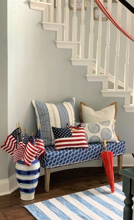 14 Easy Patriotic Memorial Day Decorating Ideas Fourth Of July Decor Decor Red Decor