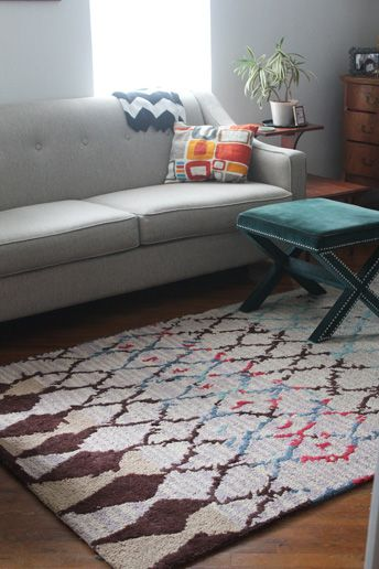B L I S R A N C H Living Room Update With Rugs USAs Berber Shaggy BR02 Rug