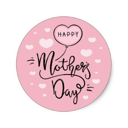 Cute Happy Mother S Day Calligraphy Sticker Zazzle Com Happy Mother S Day Calligraphy Mothers Day Crafts For Kids Happy Mothers Day