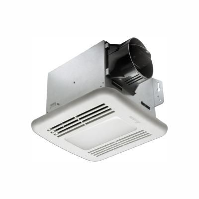 Delta Breez Greenbuilder Series 100 Cfm Ceiling Bathroom Exhaust Fan With Led Light And Humidity Sensor Energy Star Gbr100hled The Home Depot Bathroom Fan Dimmable Led Lights Bathroom Exhaust Fan