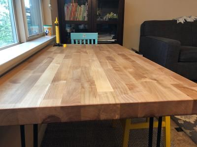 Butcher Block 8 Ft Natural Straight