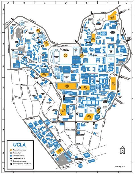Map Of Ucla Campus In 2020 Ucla Campus Ucla Campus Map Campus Map