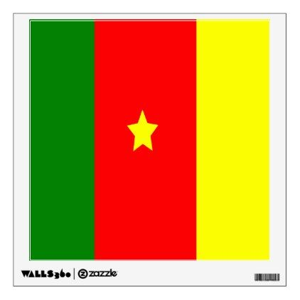 Flag of cameroon wall sticker