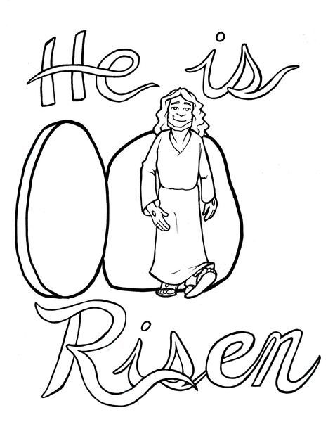 Jesus Is Risen Coloring Page Jesus Is Risen Coloring Pages Jesus Is Alive