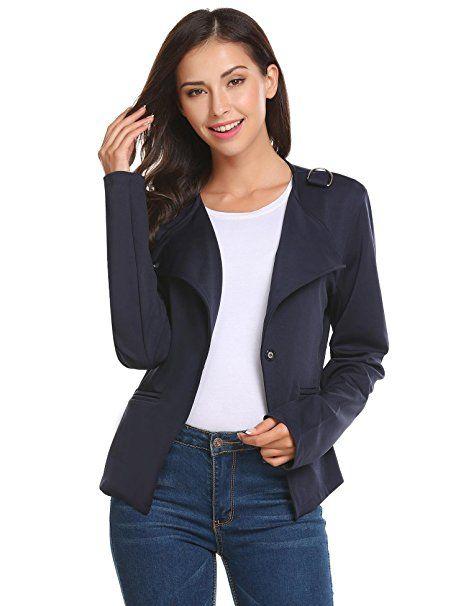 Kurzjacke Elegant Damenjacke Kurz Kragenlos kurzblazer Mode BoshCtQdrx