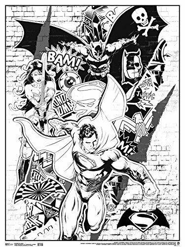 Art Zone Dc Comics Batman Vs Superman Coloring Poster 18x24 Trends Rpaz366 Batman V Superman Art Superman Art Batman Joker Art