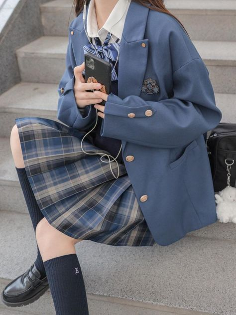 School Uniform Outfits, School Uniforms, Anime Skirts, Creepy Cute Fashion, Korean Girl Fashion, Cute Comfy Outfits, Character Outfits, Korean Outfits, School Fashion