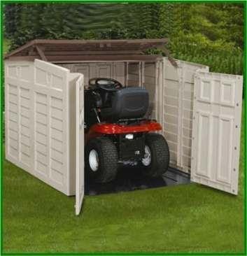 Beste Gartenhaus Lagerung Ideen Rasenmaher Ideen In 2020 Outdoor Lawn Mower Storage Lawn Mower Storage Diy Lawn