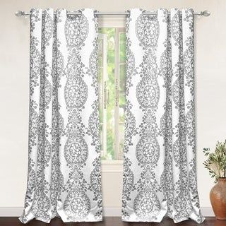 The Curated Nomad Alameda Pastel Damask Room Darkening Curtain