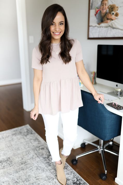 Where to buy petite jeans that don't require hemming. Where to buy petite jeans for women under five foot. Petite style tips from Brooke.