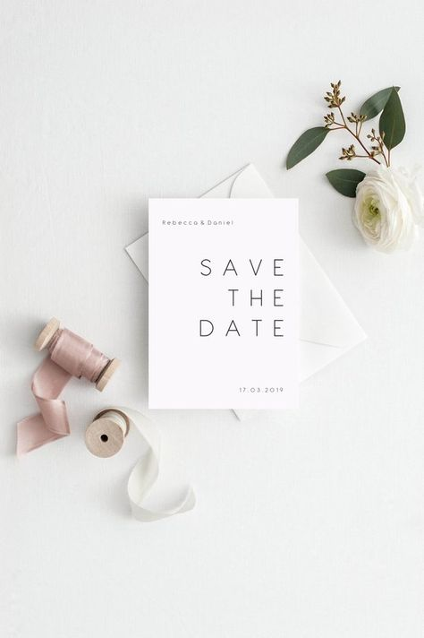 Minimal Save the Dates - Save the date invitation - Editable template - DIY Bohemian Save the Date - modern wedding - instant download - editable PDF - Engagement Announcement Save time, money and wow your guests by printing your own save the dates! This listing is an INSTANT