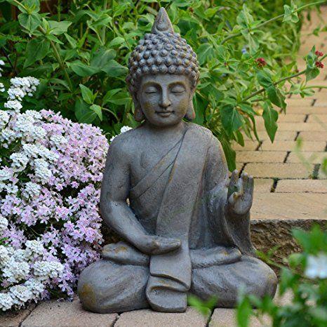 Stein Buddha Antik Massiv Steinfigur Skulptur Feng Shui Garten Deko Statue Garten Ideen Gestaltung Garten Deko Garten Dekorati Statuen Zen Dekoration Buddha