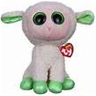 6 Inch Glitter Eyes NEW MWMT Ty Beanie Boos ~ LALA the Lamb