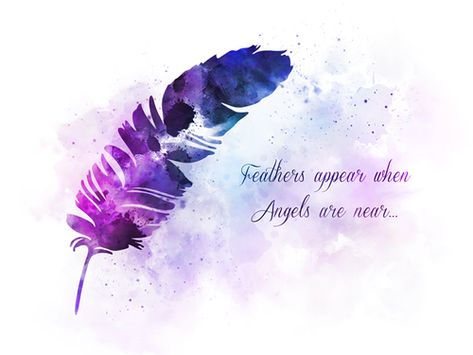 Feather Angel Quote ART PRINT Spiritual, Inspirational, Gift, Wall Art, Home Decor, gift ideas, watercolour, birthday, christmas, quotes, Feathers appear when Angels are near #Feather #Angel #Quote #ARTPRINT #Spiritual #Inspirational #Gift #WallArt #HomeDecor #giftideas #watercolour #birthday #christmas #quotes