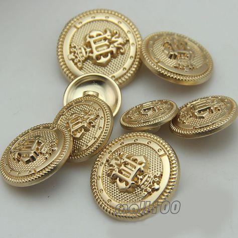 12 stuks kroon afdrukken schacht metalen knop goud ronde voor het naaien of versieringen nieuwigheid knop 15mm in 15 mm van Knoppen op AliExpress.com | Alibaba Groep