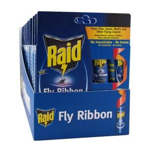 Raid Fly Ribbon Trap 10 Pack Fr10b Raid The Home Depot Fly Traps Fruit Fly Trap Pest Control