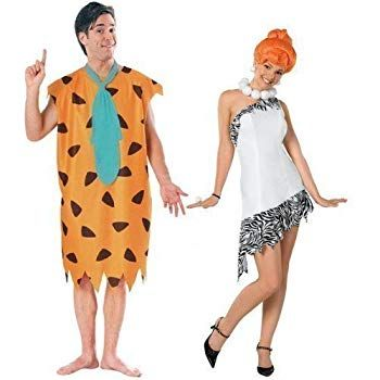 Fred And Wilma Flintstone Costumes Set For Couples Couples Fancy Dress Fred Flintstone Costume 60s Fancy Dress