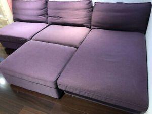 Purple Sectional Sofa Ottoman Ottoman Sofa Sectional Sofa Sofa