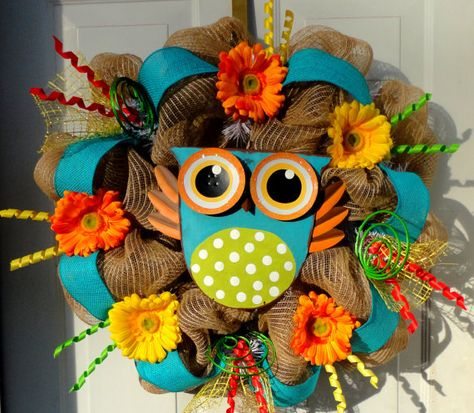 LAST ONE Summer Deco Mesh Wreath Fall Wreath by SparkleWithStyle, $89.00
