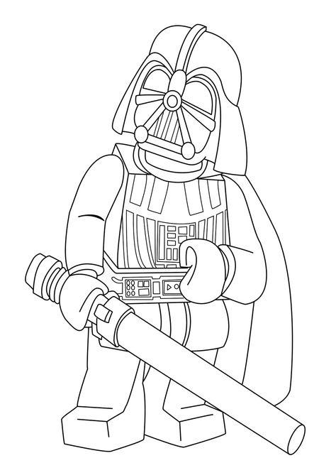 Darth Vader Holding A Sword Coloring Page Dibujos Para Pintar