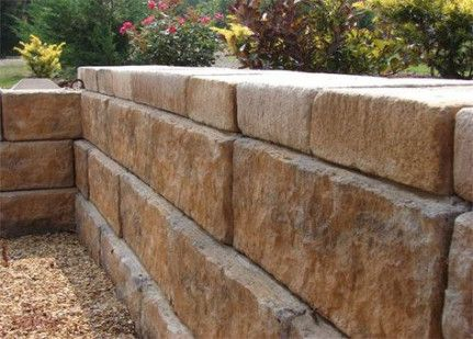 How To Build A Retaining Wall Out Of Masonry Blocks Google Search Kỹ Thuật